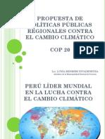 Propuesta de Politica Pub. Reg. Contra El Cambio Climatico