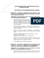 Requisito Titulo Pnp