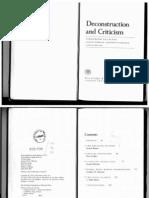 Bloom, Harold; De Man, Paul; Derrida, Jacques; Hartman, Geoffrey; Miller, J Hillis - Deconstruction and Criticism