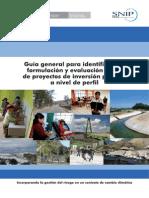 Guía General para la Elaboración de proyectos de Inversión Pública