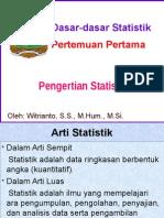 1. Pengertian Statistik