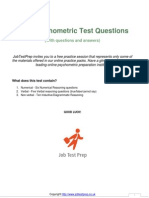 Psychometric Test Questions Answers