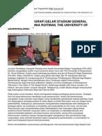 Universitas Negeri Yogyakarta - Pendidikan Geografi Gelar Stadium General Bersama Dr. Sonia Roitman, The University of Queensland - 2015-02-23