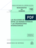 110 Las Relaciones de Poder Entre Las Grandes Potencias y Las Organizaciones Internacionales