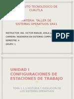 1.1.1 Historia y evolución de los sistemas operativos