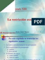 Capitulo 13 La Restriccion Externa