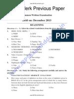 IBPS Clerk Sample Question Paper