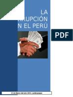 Emsayo de La Corrupcion en El Peru