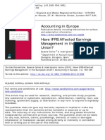 Have IFRS Affected Earnings Management in the European Union?