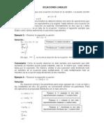 ejemplos despeje Ecuaciones