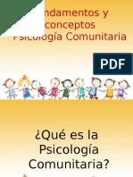 Fundamentos y Conceptos PSICOLOGIA COMUNITARIA
