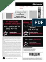 Staples Center NBA Ticket Sample