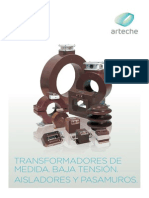 Arteche Catálogo Transformadores de Medida BT