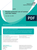 Postnatal Care - Quick Reference Guide