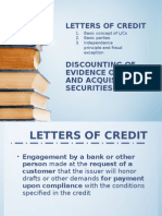 Letters of Credit - Discounting of Evidence