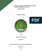 Analisis Pengaruh Partisipasi Anggaran, Informasi Simetris, Budaya dan Komitmen Organisasi Terhadap Budgetary Slack