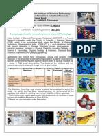 Notification IICT Scientist Sr Scientist Principal Sr Principal Scientist Posts