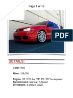 2004 VW R32 Red w/ 106k