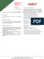 Aalco Metals Ltd All Metals Test Certificates 54