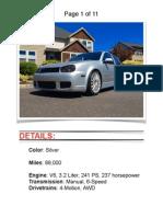 2004 VW R32 Silver w/ 89k
