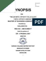 Measuring Option Volatality using option greeks