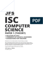 ISC Computer Science 2013 Solved Paper
