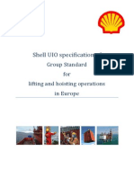 Shell UIO Specification of Group Standard for Lifting and Hoisting Operations in Europe