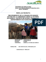 Perfil Huiñacc crianza de ganado ovino