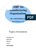 ERP for Manufacturing Organizations