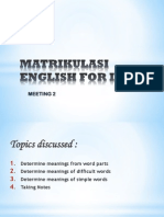 English for ICT - Meeting 2