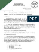 COA_M2010-003. Procedure on Procurements