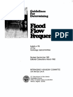 Flood flow frequency
