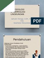 METODOLOGI EPIDEMIOLOGI LINGKUNGAN