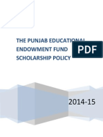 Scholarship Policy 2014
