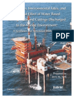 Composition, Environment Fates, And Biological Effect of Water Based Drilling Fluids and Cuttings