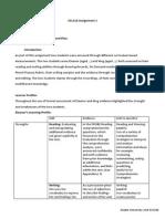 Literacy Learner Profiles