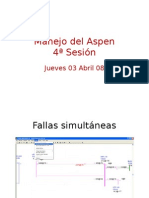 Manejo Del Aspen One Liner 4a Sesion Jueves Fallas Simultaneas