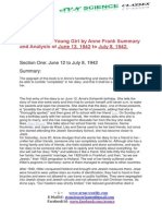 The Diary of a Young Girl by Anne Frank Summary and Analysis of June 12 to 21 August 1942