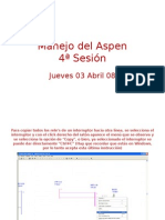 Manejo Del Aspen One Liner 4a Sesion Jueves
