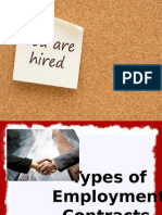 types of employment contracts ppt