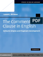 The Comment Clause in English