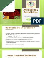 sucesiones aritmticas y geomtricas