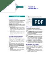 1. What is Economics