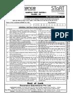 STaRT 2016 Sample Test Paper Clsss 9