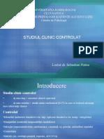 CURS 14. Studiul Clinic Controlat