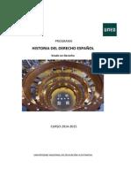 Programa Historia Derecho Espanol 2014-2015 VB