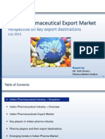 Indian Pharmaceutical Export Market - Top Export Destinations for Indian Pharma Companies