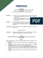 Peraturan Peradi Nomor 1 Tahun 2006 Tentang Pelaksanaan Magang Untuk Calon Advokat