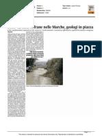 Sono 42mila le frane nelle Marche, geologi in piazza - Il Corriere Adriatico del 6 settembre 2015