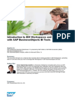 Introduction to BW Workspaces and Its Usage With SAP BusinessObjects BI Tools
